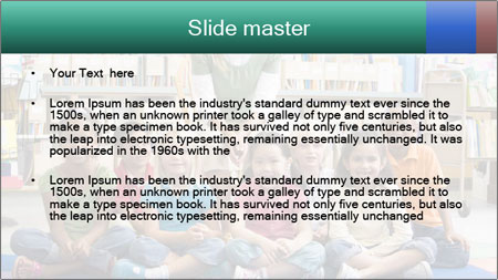 Portrait with teacher PowerPoint Template - Slide 2