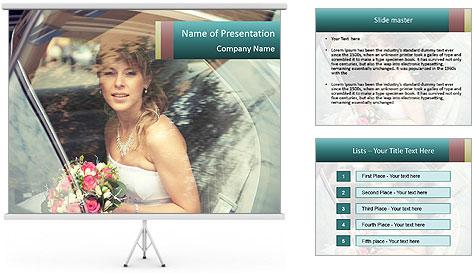 Pretty bride PowerPoint Template