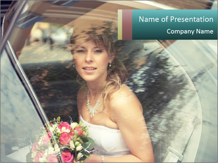 Pretty bride PowerPoint Templates