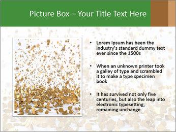 Golden coins rain PowerPoint Template - Slide 13