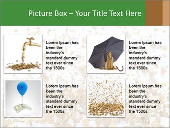 Golden coins rain PowerPoint Template - Slide 14