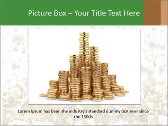 Golden coins rain PowerPoint Template - Slide 15