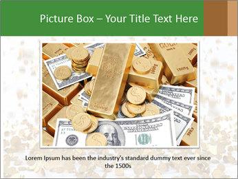 Golden coins rain PowerPoint Template - Slide 16