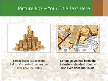 Golden coins rain PowerPoint Template - Slide 18