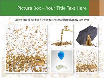 Golden coins rain PowerPoint Template - Slide 19