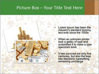 Golden coins rain PowerPoint Template - Slide 20