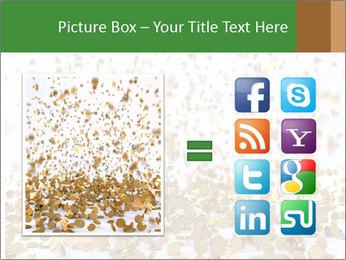 Golden coins rain PowerPoint Template - Slide 21