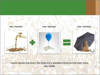 Golden coins rain PowerPoint Template - Slide 22