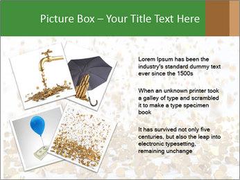 Golden coins rain PowerPoint Template - Slide 23