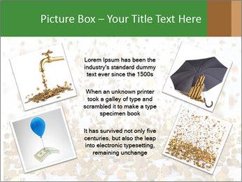 Golden coins rain PowerPoint Template - Slide 24