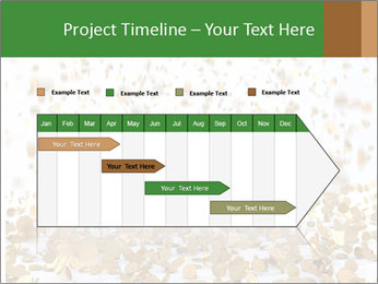 Golden coins rain PowerPoint Template - Slide 25