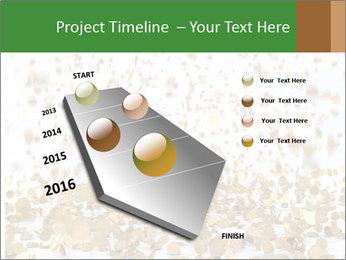 Golden coins rain PowerPoint Template - Slide 26