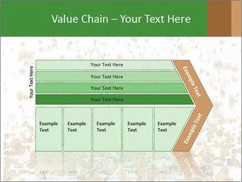 Golden coins rain PowerPoint Template - Slide 27