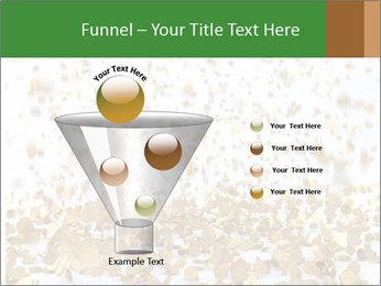 Golden coins rain PowerPoint Template - Slide 63