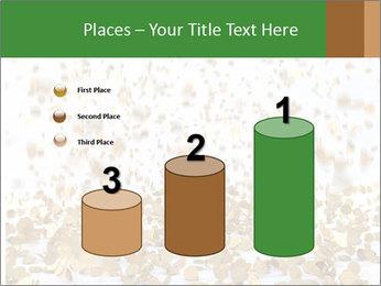 Golden coins rain PowerPoint Template - Slide 65