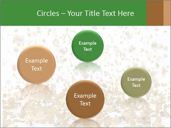 Golden coins rain PowerPoint Template - Slide 77