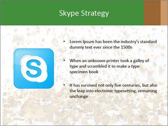 Golden coins rain PowerPoint Template - Slide 8