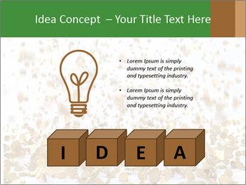Golden coins rain PowerPoint Template - Slide 80