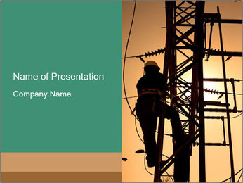 Electric substation PowerPoint Template - Slide 1