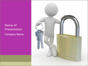 Huge padlock PowerPoint Template - Slide 1
