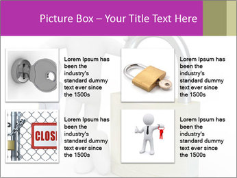 Huge padlock PowerPoint Template - Slide 14