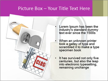 Huge padlock PowerPoint Template - Slide 17