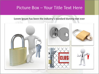 Huge padlock PowerPoint Template - Slide 19