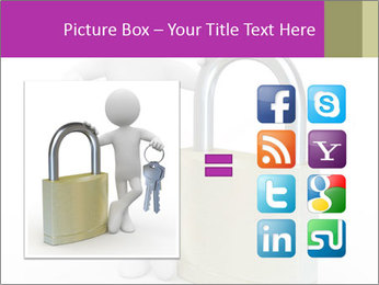 Huge padlock PowerPoint Template - Slide 21