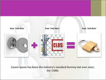 Huge padlock PowerPoint Template - Slide 22