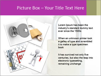 Huge padlock PowerPoint Template - Slide 23