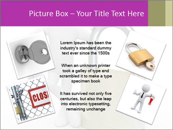 Huge padlock PowerPoint Template - Slide 24