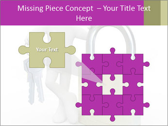 Huge padlock PowerPoint Template - Slide 45
