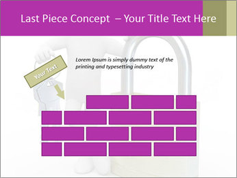 Huge padlock PowerPoint Template - Slide 46