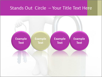 Huge padlock PowerPoint Template - Slide 76