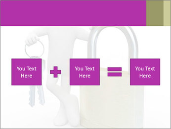 Huge padlock PowerPoint Template - Slide 95