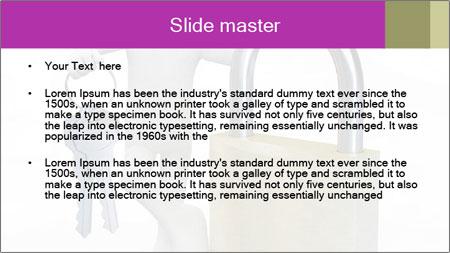 Huge padlock PowerPoint Template - Slide 2