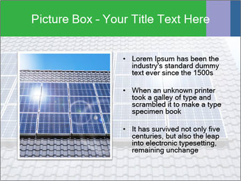Roof with solar panels fragment under sunny blue sky PowerPoint Template - Slide 13