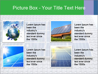 Roof with solar panels fragment under sunny blue sky PowerPoint Template - Slide 14