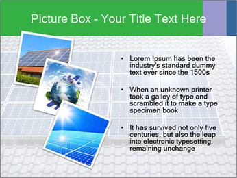 Roof with solar panels fragment under sunny blue sky PowerPoint Template - Slide 17