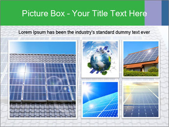 Roof with solar panels fragment under sunny blue sky PowerPoint Template - Slide 19