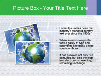 Roof with solar panels fragment under sunny blue sky PowerPoint Template - Slide 20