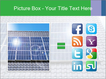 Roof with solar panels fragment under sunny blue sky PowerPoint Template - Slide 21