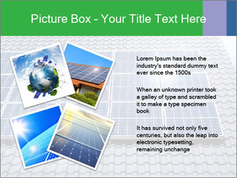 Roof with solar panels fragment under sunny blue sky PowerPoint Template - Slide 23