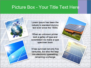 Roof with solar panels fragment under sunny blue sky PowerPoint Template - Slide 24