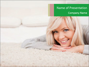 Charming blond PowerPoint Templates - Slide 1
