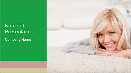 Charming blond PowerPoint Template