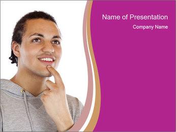 Man happy PowerPoint Template - Slide 1