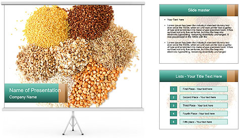 Different kinds of cereals PowerPoint Template