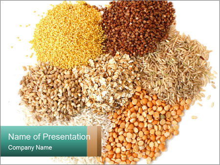Different kinds of cereals PowerPoint Templates