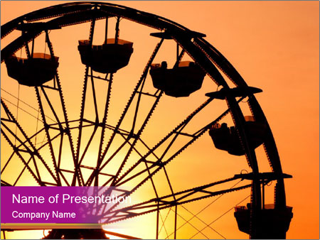 Silhouette of ferris PowerPoint Template
